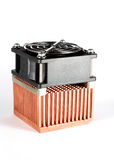 Copper heatsink. For cpu Stock Photos