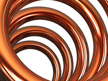 Copper helix. On white background Stock Photos