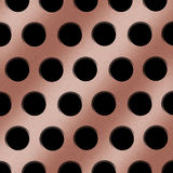 Copper Holes Background Royalty Free Stock Images