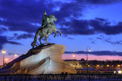 Copper Horseman. St. Petersburg. Royalty Free Stock Photos