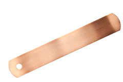 Copper identification tags isolated Stock Image