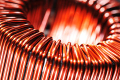 Copper inductor royalty free stock photography