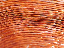 Copper inductor metal Royalty Free Stock Photo