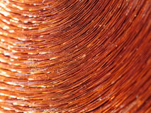 Copper inductor metal Royalty Free Stock Photos