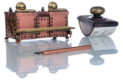 Copper inkwell Royalty Free Stock Photography
