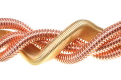 Copper insulated transmission lines Stock Photos