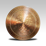 Copper iota coin  on white background 3d rendering Stock Photography