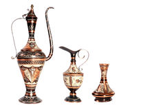 Free Copper Jug With A Traditional Arabic Ornaments On A White Background Royalty Free Stock Image - 79200656