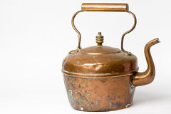 Copper kettle isolated on white background royalty free stock images
