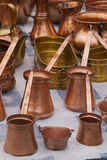 Copper kettle and pot Stock Photography
