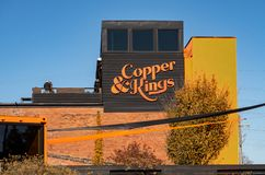 Copper and Kings Distillery. The Copper and Kings Distillery in Louisville, KY stock images