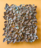 Copper leaves hanging on wall Stock Images