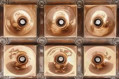 Copper Light Fixture Royalty Free Stock Photo