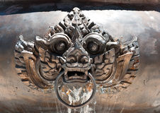 Copper lion head Stock Photos