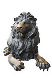 Copper lion statue Stock Photo
