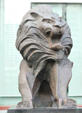 Copper lion stature. Closeup of copper lion stature Royalty Free Stock Photography