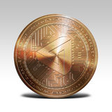 Copper maidsafecoin coin isolated on white background 3d rendering. Illustration Stock Image