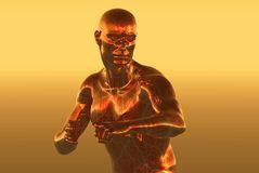 Copper man. Graphic background Stock Images