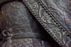 Copper mantle texture background closeup Stock Image
