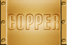 Copper metal background Stock Photos
