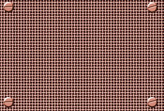 Copper metal mesh Royalty Free Stock Images