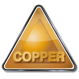 Copper and metal plate Stock Photos