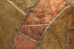Copper metal texture Stock Image