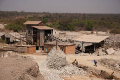 Copper mine. Copper mining and processing area in kitwe, copperbelt, zambia Royalty Free Stock Photo