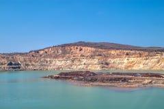 Copper mine near Elshitsa, Bulgaria. Open-pit mine near Elshitsa Village in Bulgaria royalty free stock photography