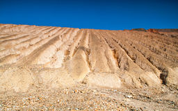 Copper mine near Tsar Asen village, Bulgaria. Rock formations in abandoned copper mine stock photos