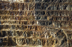 Copper mine open pit Stock Photography