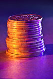 A stack of copper coins Royalty Free Stock Photo