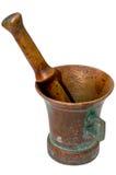 Copper mortar stock photography