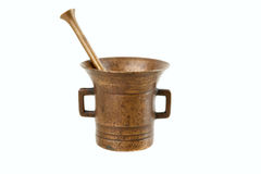 Copper mortar Royalty Free Stock Image