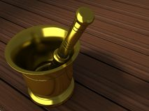 Copper Mortar and Pestle Stock Photos