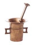 Copper mortar Stock Photo