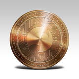 Copper musicoin coin isolated on white background 3d rendering. Illustration Royalty Free Stock Photography