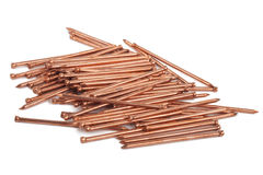 Copper nails Stock Image