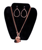 Copper Necklace and Earrings Royalty Free Stock Images