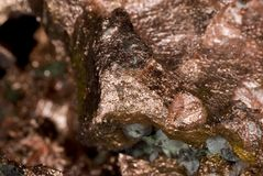 Copper Nugget. Close up of a copper nugget ore stock images