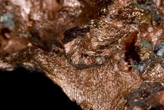 Copper Nugget. Close up of a copper nugget ore royalty free stock photo
