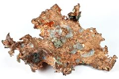 Copper nugget Royalty Free Stock Photography