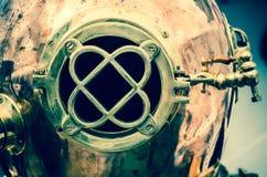 Copper old diving helmet Stock Images