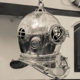 Copper old diving helmet Stock Photos