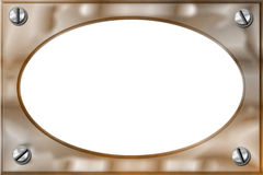 Copper opaque frame Royalty Free Stock Image