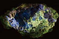 Copper ore - Azurite Stock Image