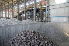 The copper ore metal production plant Royalty Free Stock Photos