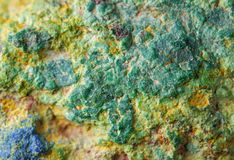 Copper ore texture close up Stock Photos