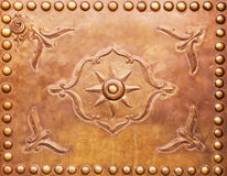 Copper ornaments of a door in Marrakesh Royalty Free Stock Images