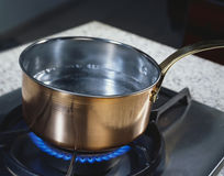 Copper pan Stock Photos
